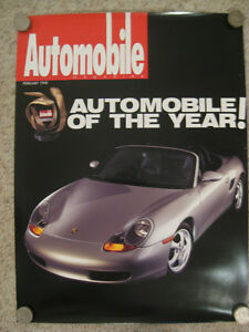 1998 Porsche 911 Coupe Historical Showroom Advertising Poster RARE Awesome L@@K