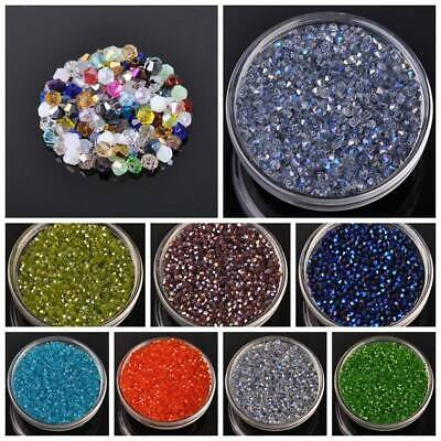50pcs 6 mm NOIR bobine biconique Faceted Crystal Glass Loose Spacer Beads Jewelry Making