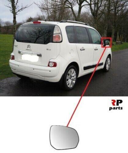 Para Citroën C3 Picasso 08-19 Ala Espejo Calefactado con Marco Derecho S