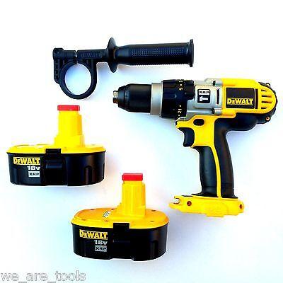 New Dewalt DCD950 18V Cordless Hammer Drill, 2 DC9096 Batteries 18 Volt XRP