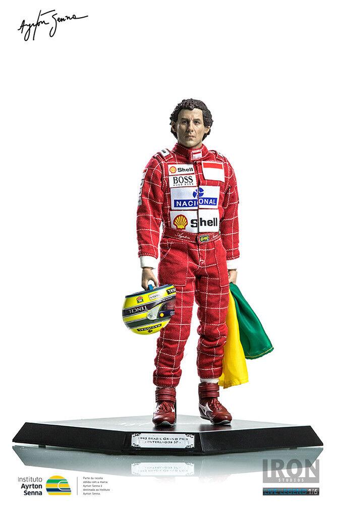 Ayrton Senna 1993 Brazilian Grand Prix 12' Action Figure IRON STUDIOS