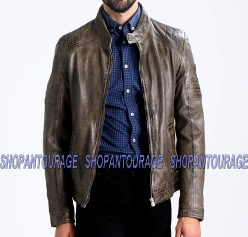 Mauritius Cave New Genuine Leather Dark Taupe Jacket For Men