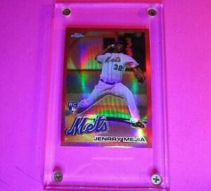 2010 Topps Chrome RED REFRACTOR Jenrry Mejia Rookie Card #200 NY Mets #d 24/25