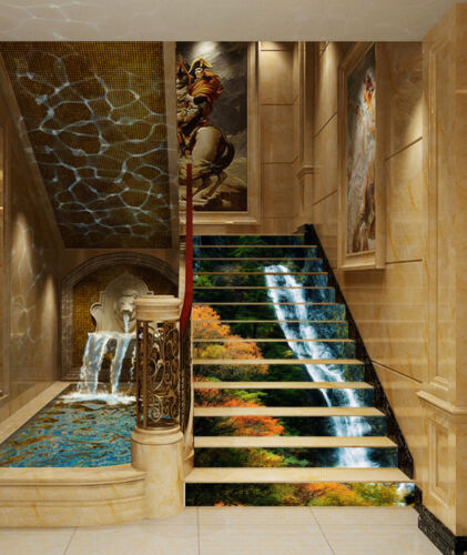 3D Slim Creeks 180 Stair Risers Decoration Photo Mural Vinyl Decal Wallpaper AU