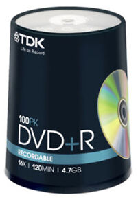 100-Spindle-TDK-DVD-R-4-7GB-120Min-Blank-DVDR-Recordable-Disc-Discs-DVDS-Data
