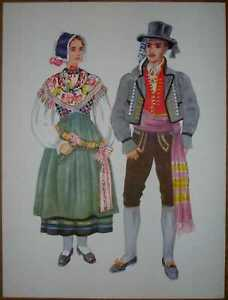 Slovenia Folk Costume - Kranjska Gora - IV/05