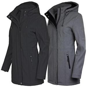 heißester Verkauf Steckdose online großer Lagerverkauf Details zu ODYSSEE Damen Softshellmantel Softshell Jacke Mantel mit  abnehmbarer Kapuze