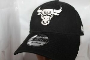 0d45aebd228 Image is loading Chicago-Bulls-New-Era-NBA-Black-White-9twenty-