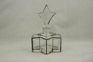 Czech-Perfume-Bottle-Art-Deco-Style-Star-Glass-Stopper-Large