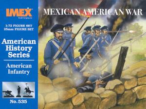 Imex 1/72 Américain Infanterie Mexicain Américain Guerre #535