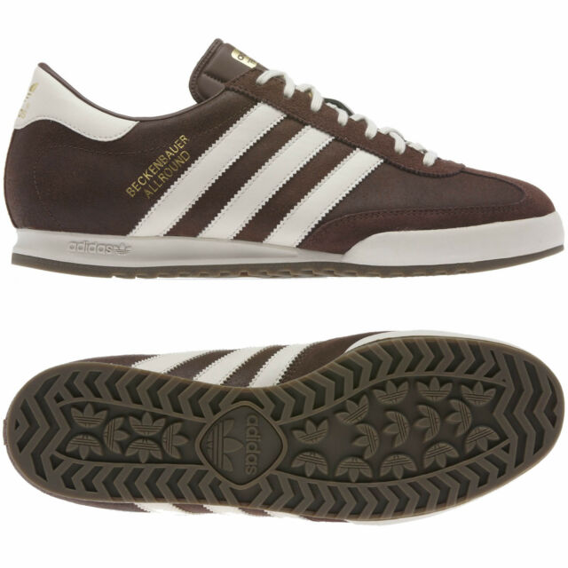 low priced 190cd 7d0aa adidas MENS BECKENBAUER BROWN SIZE 7 8 9 10 11 12 TRAINER SHOES MOD STYLE  BNWT