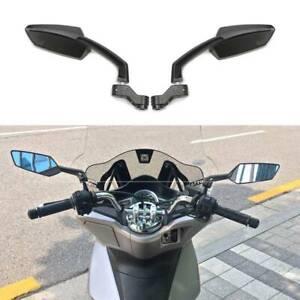 For Honda Kawasaki Suzuki Yamaha Black Motorcycle Rearview Side Mirrors 10mm 8mm