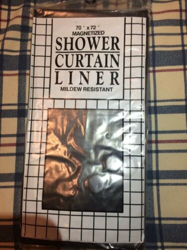 Vinyl Shower Curtain MEDIUM//LIGHT WEIGHT Liner Contemporary Bright Solid Colors