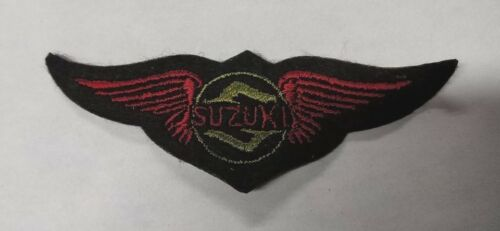 Material Embroidered Suzuki Patch Black Yellow Red Wing Clearance 10cm Style 9
