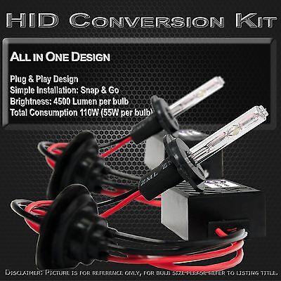 H7 6000k 6k Ice White Stark 55W HID Fog Light Slim Xenon Kit All-in-1 Lights
