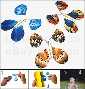 Magic Flying Butterfly Trick Prank Butterflies Fly Out Of Wedding Birthday Card by Ebay Seller