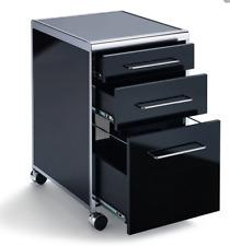 Rollcontainer Schreibtischcontainer Sydney Hochglanz weiß