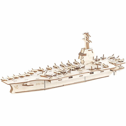 233-teilig Playtastic 3er-Set 3D-Bausätze Marine-Schiffe /& Luftflotte aus Holz