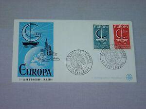 2-enveloppes-FDC-EUROPA-1965-1966