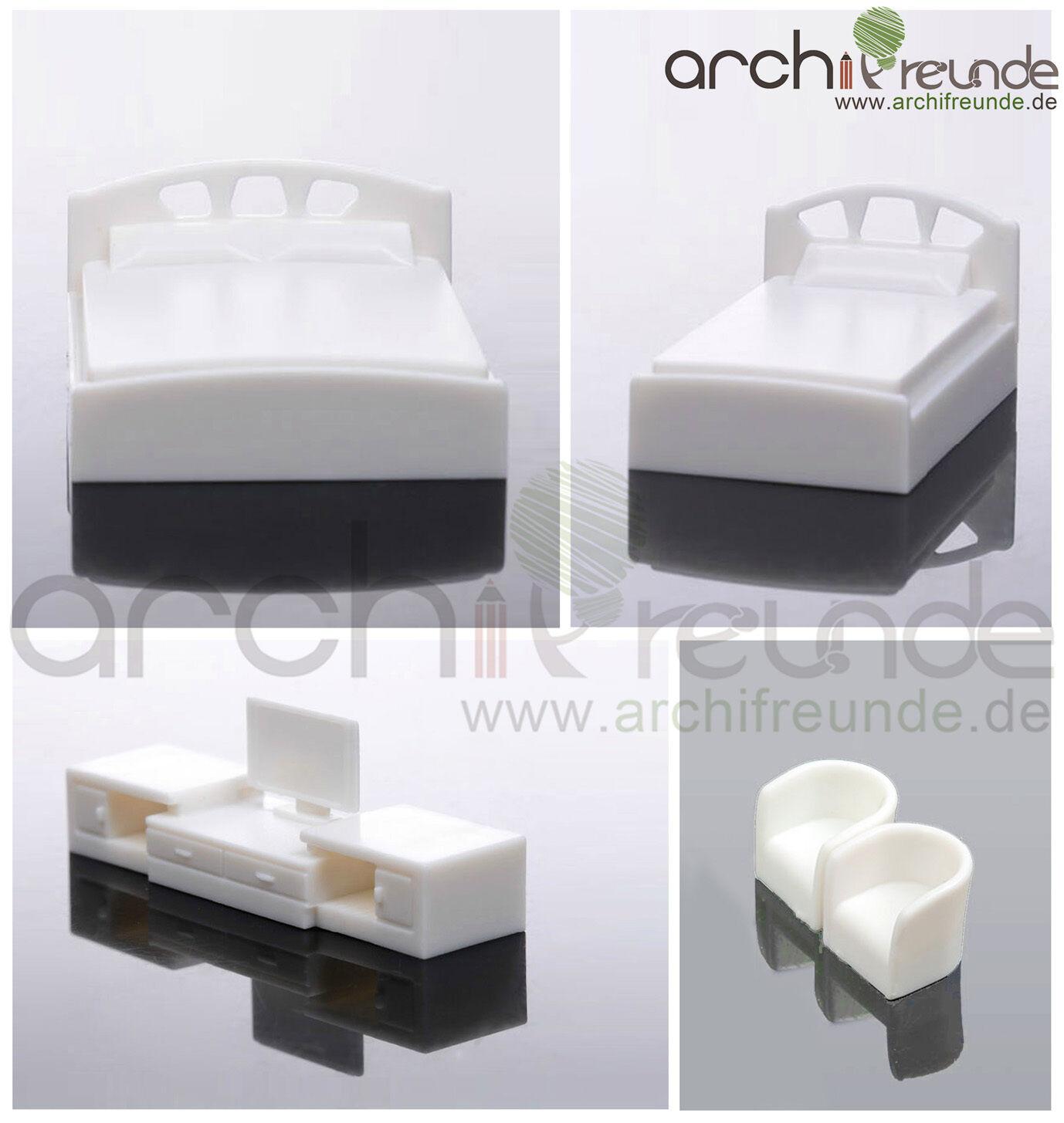 5er set modelo dormitorio muebles 1 50, cama doble + + + cama individual TV + + 2 sillón 69a5b0