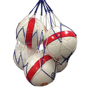 Football-Netball-Rugbyball-Handball-Basketball-5-Ball-Carry-Net-White