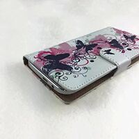Mobile Phone Book Cover Wallet Case For LG K4 LTE - Butterfly Pink S