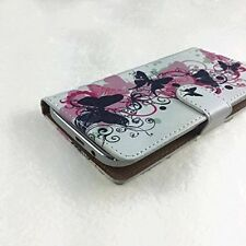Mobile Phone Book Cover Case For ZTE TANIA - Butterfly Pink M