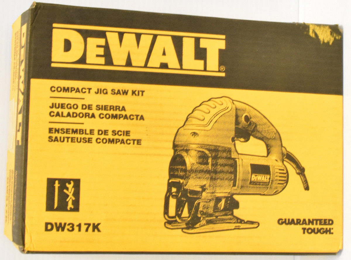 NEW DEWALT DW317K ELECTRIC TOP HANDLE 5.5-AMP COMPACT JIG SAW KIT NEW