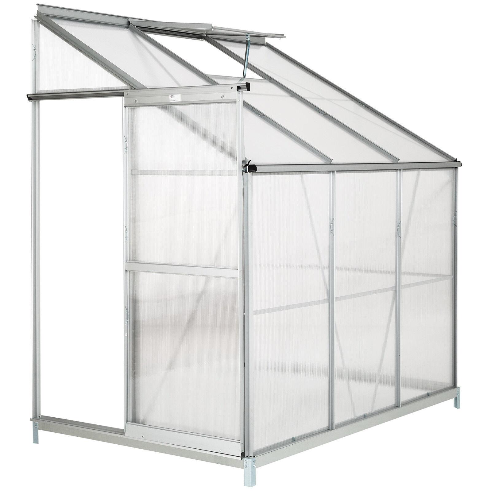 Prezzo al piano Serra da giardino in alluminio con con con base per piante orto casetta esterno 4,09 m³  grande sconto