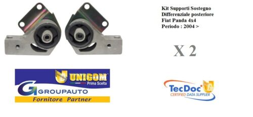 Kit Supporti Sostegno Differenziale Ponte posteriore Fiat Panda 169 4x4 04 />