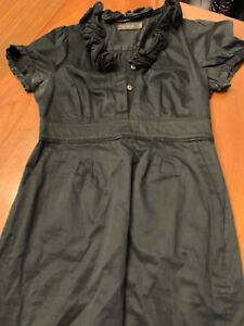 The-Limited-Womens-Dress-Black-Cotton-Flowers-Pockets-Sz-6-Career-Cocktail