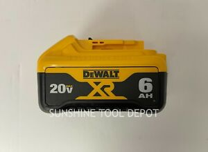 DeWalt DCB206 20V 20 Volt 6.0 Amp Hour Lithium Ion Battery Pack Extended Run XR