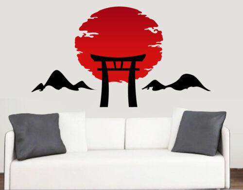 Japanese Sunrise Design Mural Wall Sticker Transfer Decal