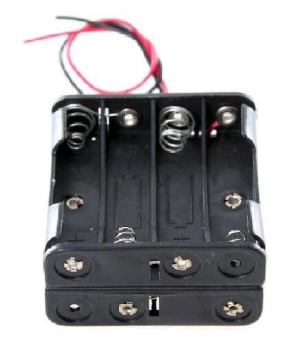 2 SCATOLA unità per contenere 8 X AAA Batteria Box 4 x 2 titolare HOBBY MODEL TOY 14cm bc18