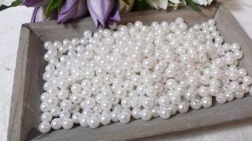 250 Perlen apfelgrün Ø 8mm grün basteln auffädeln Wachsperlen Hochzeit Dekoperle