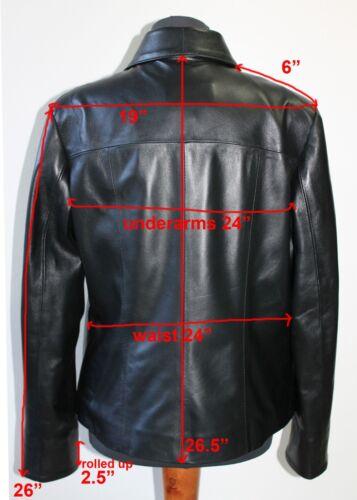 Pear Shaped Jacket Women Fit Body Handmade Leather Lambskin 3xl Black Italian Rf0wF5