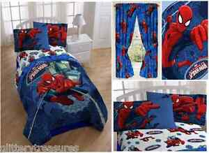 Image Is Loading Kids Boys Spiderman Bedding Bed In A Bag