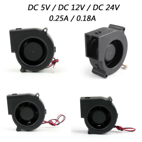 Cooling Blower Computer Fan Ball Bearing 75×75×30mm DC Brushless 2 Pin US