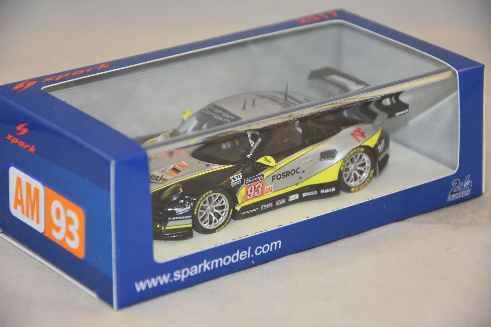 Spark s5842 - PORSCHE 911 RSR N 93 Proton Competition 37ème Le Mans 2017 1/43