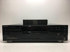 Sony-CDP-C545-Comapct-Disc-Changer-5-CD-Wechsler-ohne-Fernbedienung