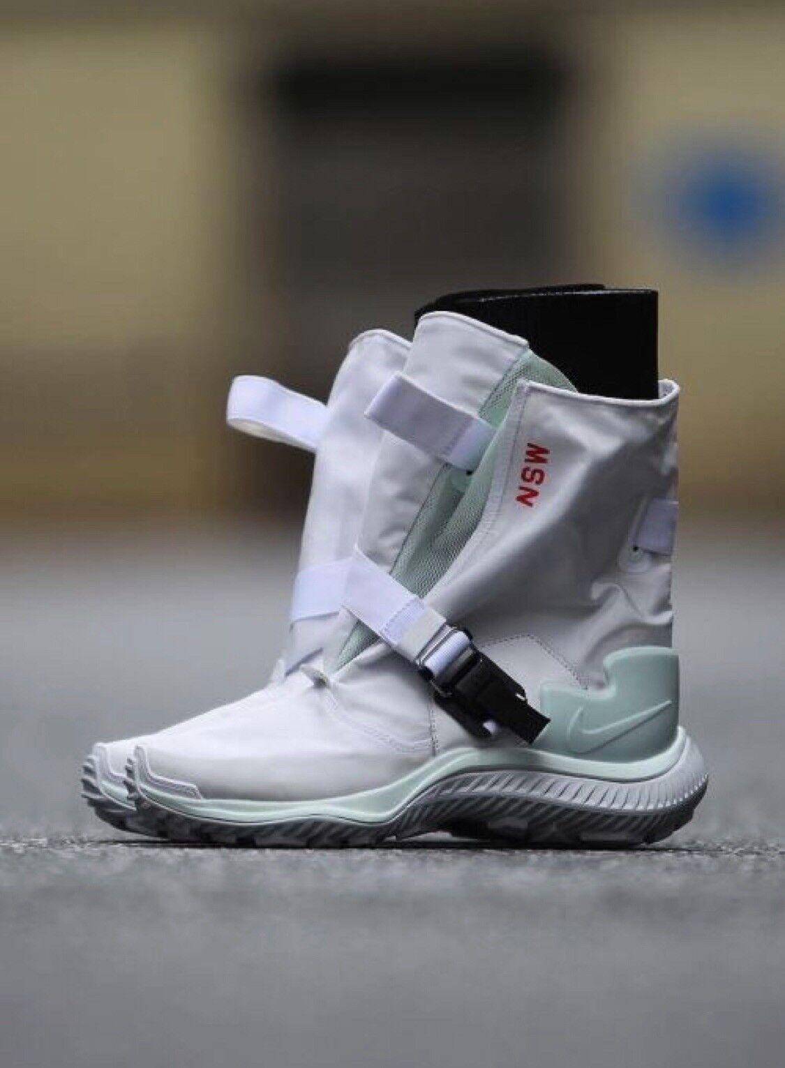 NikeLab Donna Winter Stivali Gyakusou Gaiter  White (US 7.5)