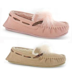 Ella Paula Faux Suede Moccasin Slippers
