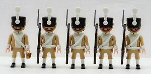 5 X Soldat Gardien Tan Playmobil À Husar Réductions Ceinture Napoleon 03 Rar