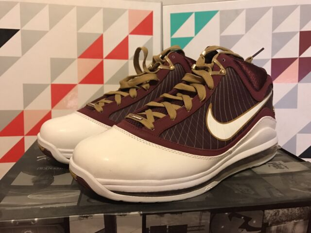 77776e3a2c4a7 Nike Air Max LEBRON VII 7 CHRIST THE KING CTK MAROON RED WHITE GOLD 375664-