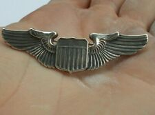 """RARE Vintage Sterling Silver Airforce Military WWII Pin Wings Aviation Shield 2"""""""