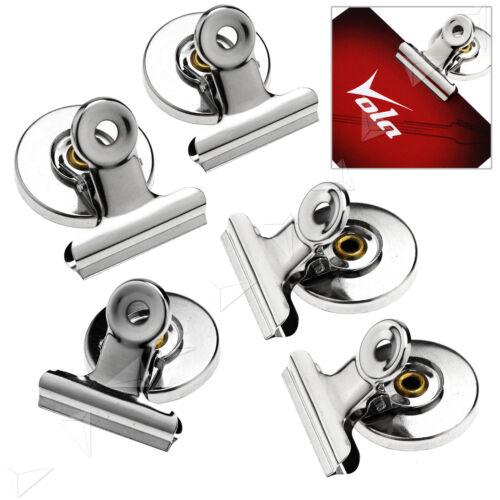 5x Magnetclip Metall Magnetwand Kühlschrank Büro Memo Pinnwand 3CM SET