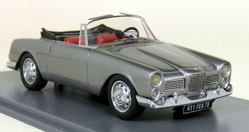 NEO 1 43 Scale - 43411 1961 Facel Vega Facellia F2 DHC Pewter - Resin Model Car