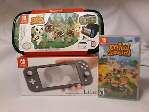 Nintendo Switch Lite GRAY Console Bundle - ANIMAL CROSSING ...