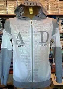 Giubbotto uomo Angel Devil in tessuto retato con logo ricamato