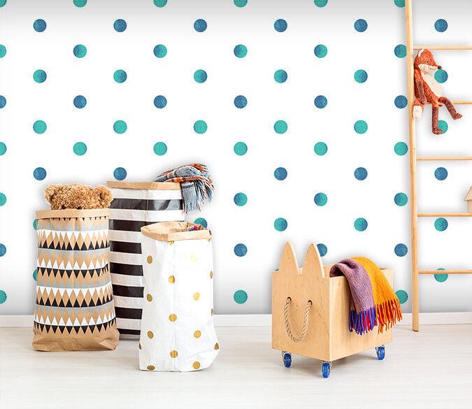 3D Spot Blau Grün  757 Wallpaper Mural Paper Wall Print Indoor Murals CA Summer